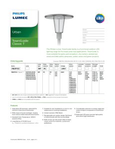 Philips TownGuide Classic T Spec Sheet