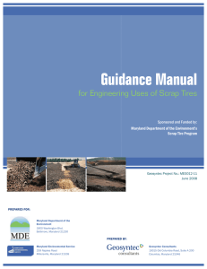 Guidance Manual for Engineering Uses of Scrap Tires