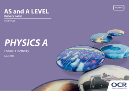 OCR AS and A Level Physics A Delivery Guide