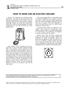 how to wire for an electric welder
