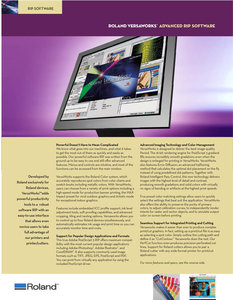 roland versaworks™ advanced rip software