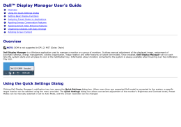 Dell Display Manager User`s Guide