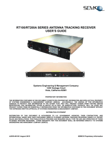 rt100/rt200a series antenna tracking receiver user`s guide