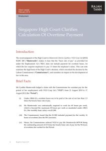 Singapore High Court Clarifies Calculation Of Overtime