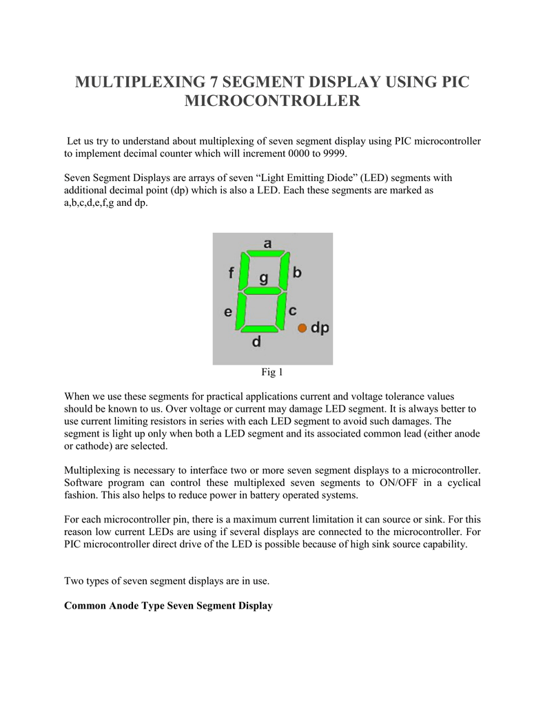Multiplexing 7 Segment Display Using Pic Microcontroller Segments Of Seven 018613603 1 B66e55c0d1bd5f18a0e1e9f40ed49a36
