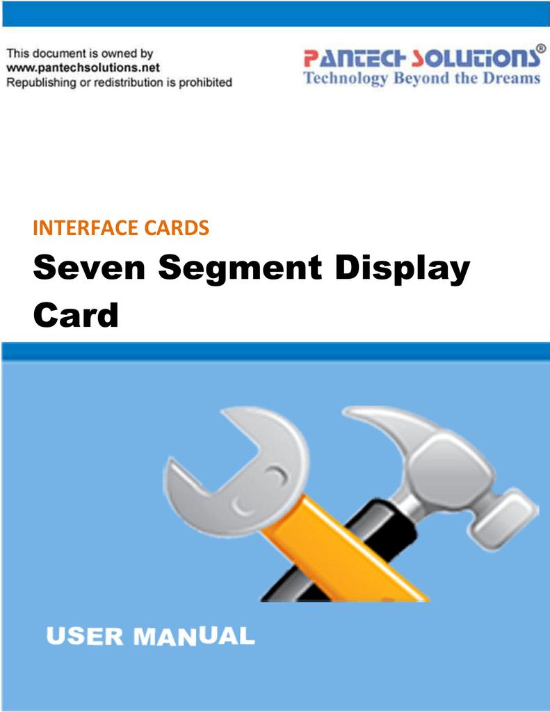 Seven Segment Display Card