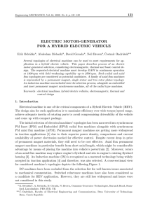 electric motor-generator for a hybrid electric vehicle