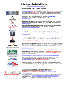 Maxima Electrical Sales - What Maxima does for the Manufacturers