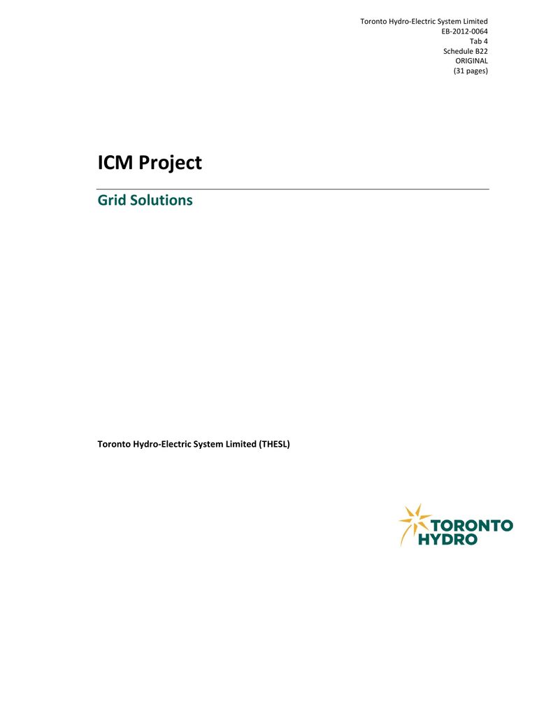 ICM Project Grid Solutions