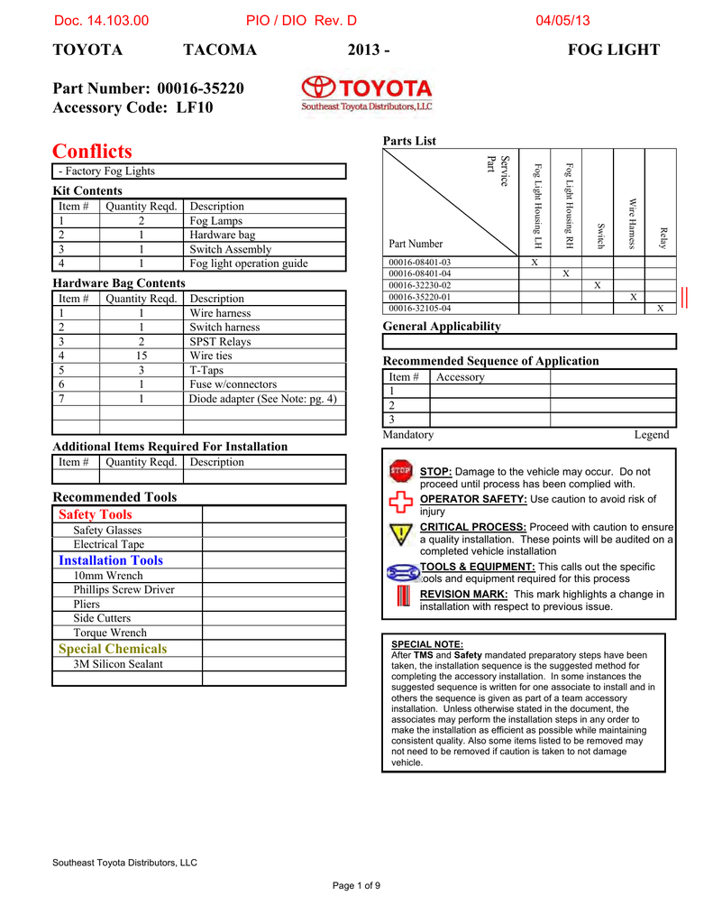 2013 Tacoma Fog Lights Sparks Toyota Dpdt Switch Wiring Diagram In Addition With Spdt Relay