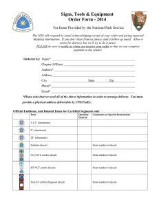 Order Form - North Country Trail Association