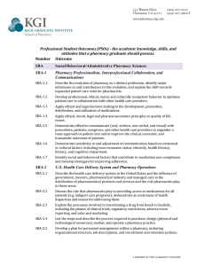 Professional Student Outcomes (PSOs)