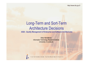 Long and Short Term Architecture Decisions