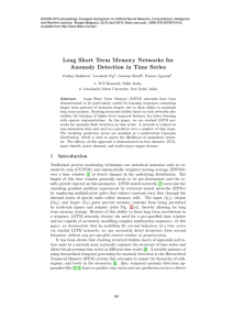 Long Short Term Memory Networks for Anomaly Detection in Time
