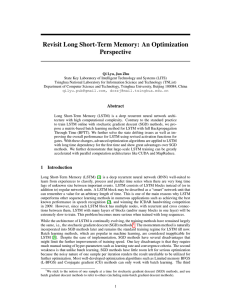 Revisit Long Short-Term Memory: An Optimization Perspective