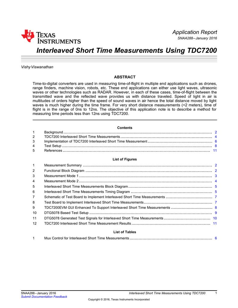 Interleaved Short Time Measurements Using Omap 5 Block Diagram