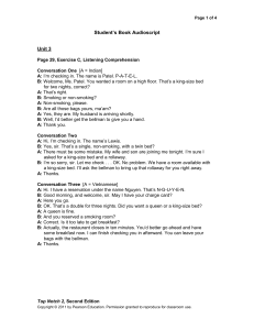 Student`s Book Audioscript Unit 3