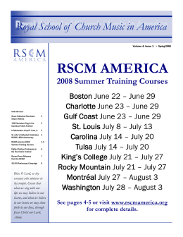 Spring 2008 - Royal School of Church Music in America