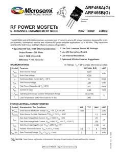 RF POWER MOSFETs