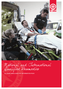 National and International Qualified Paramedics