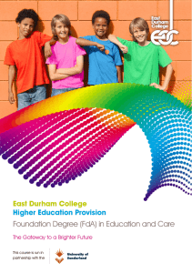 Foundation Degree (FdA) in Education and Care
