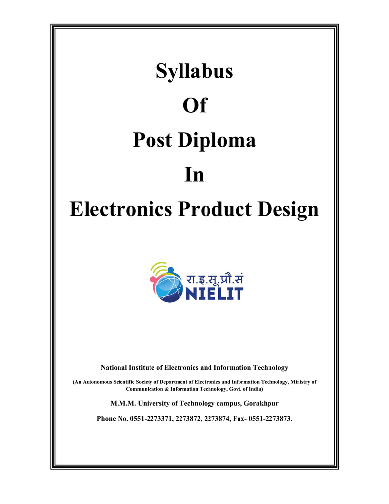 Syllabus Of Post Diploma In Electronics Product Design Motor Speed Control Circuit Using Lm3524