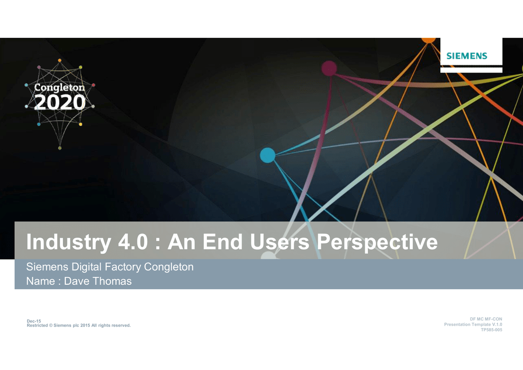 industry 4.0 : an end users perspective, Presentation templates