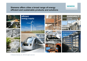 Siemens offers cities a broad range of energy efficient and