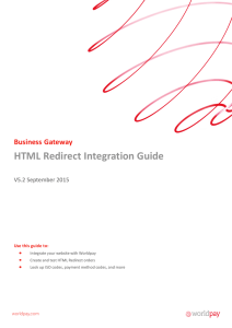 HTML Redirect Integration Guide - Support