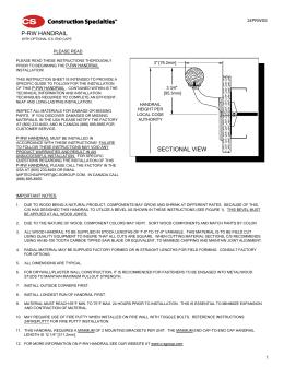 P-RW HANDRAIL - Construction Specialties  sc 1 st  studylib.net & luxrail azcodes.com