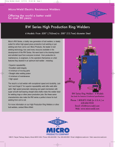 RW Series High Production Ring Welders