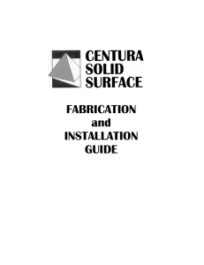 Fabrication Manual.pub - Auman Brothers Solid Surface Fabrication