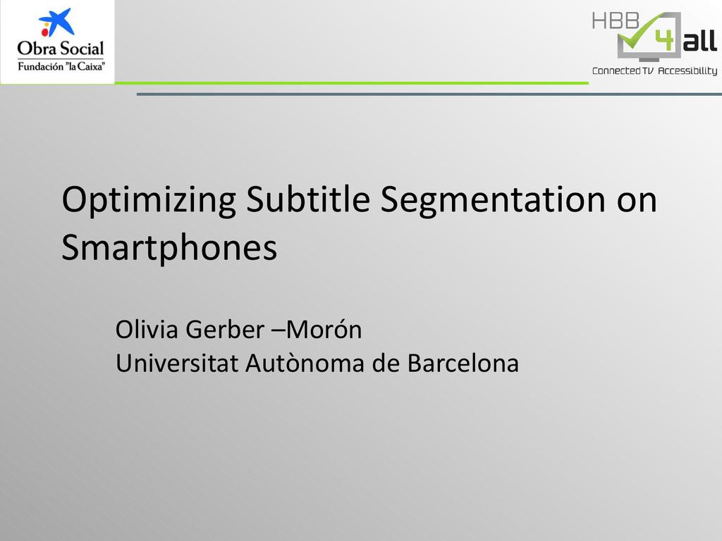 What Is Subtitle Segmentation?