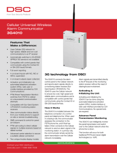 Cellular Universal Wireless Alarm Communicator 3G4010