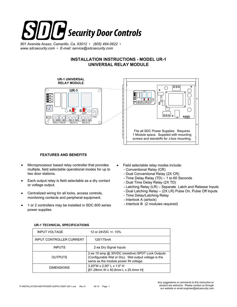 Installation Security Door Controls Spdt Relay Wiring Diagram Lock
