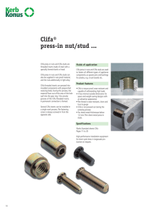 Clifa® press-in nut/stud - Kerb Konus Vertriebs GmbH