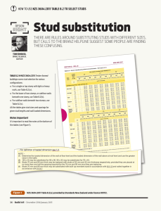 Stud substitution