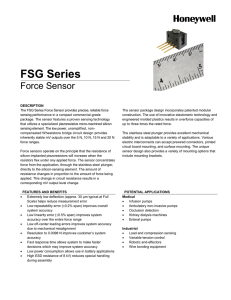 FSG Series Force Sensor Product Sheet