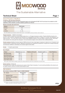 ModWood Technical Data Sheet