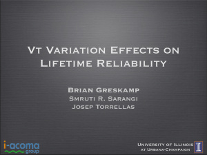 VT VARIATION EFFECTS ON LIFETIME RELIAbILITy