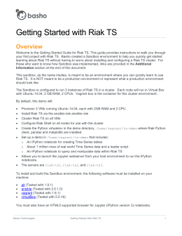 Getting Started with Riak TS