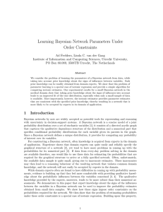Learning Bayesian Network Parameters Under Order Constraints
