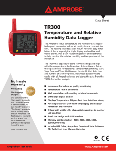 TR300 Temperature and Relative Humidity Data Logger