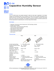 P-14 Capacitive Humidity Sensor
