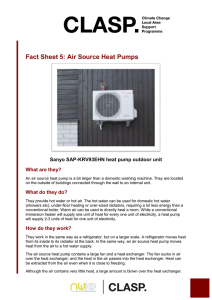 Fact Sheet 5: Air Source Heat Pumps