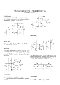 ANALOG CIRCUITS : PROBLEM SET 4a