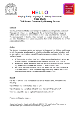 Childhaven Community Nursery, Parent sessions