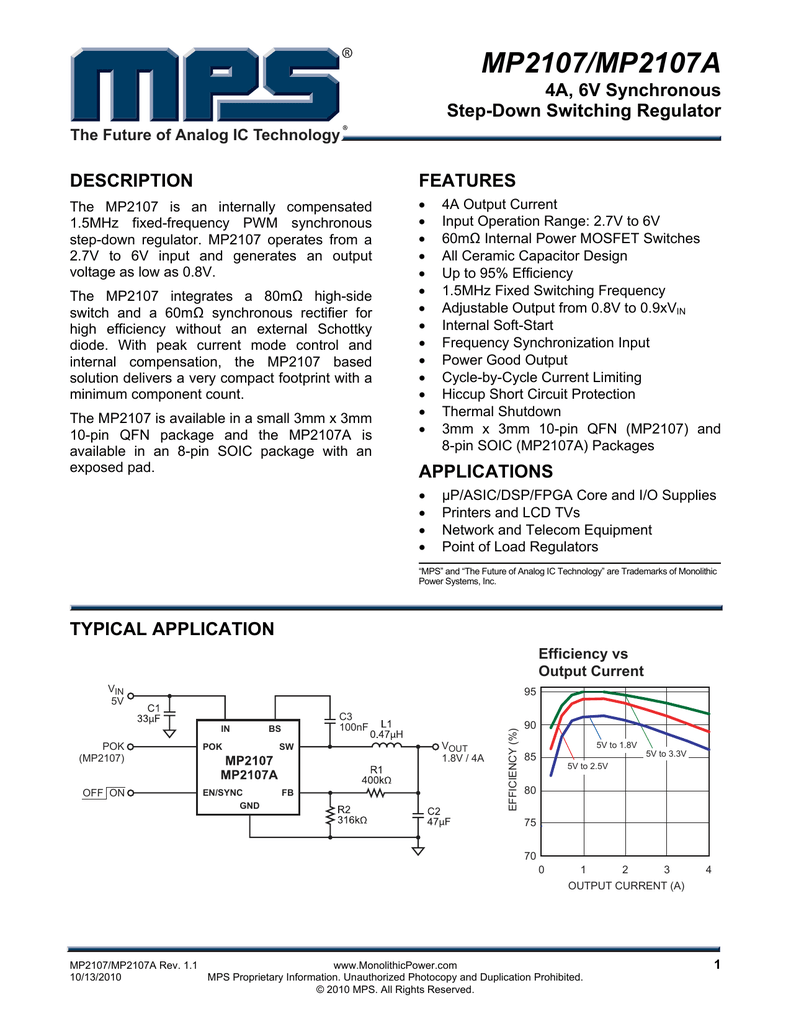mp2107 mp2107a monolithic power system