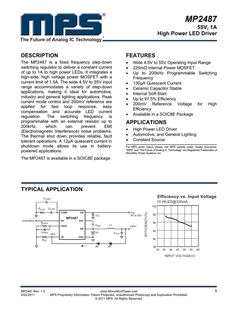 mp2487 monolithic power system
