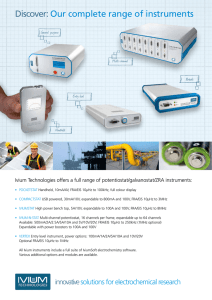 Products Brochure - Ivium Technologies BV